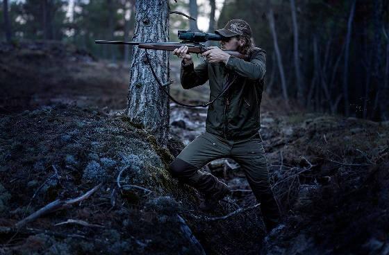 Охота на волков с ночным прицелом