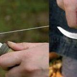 Заточка ножей в полевых условиях