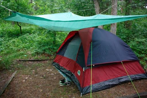 Установка купольной палатки
