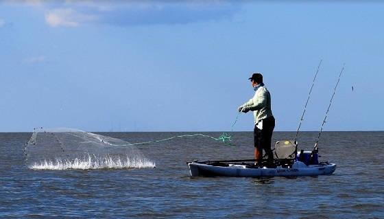 Рыбалка на кастинговую сеть: Разнорыбье