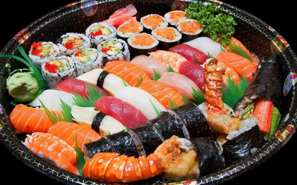 Морепродукты для японской кухни