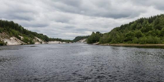 Рыбалка на реке Суна в пекло