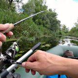 Рыбалка в зарослях на реке