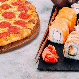Заказ пиццы и суши